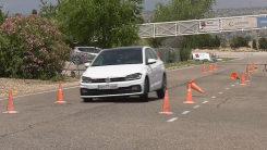 Polo GTI麋鹿测试 身材小巧的它过弯是否敏捷