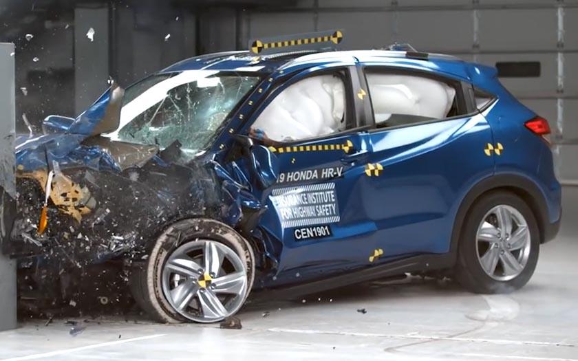 本田HR-V碰撞来袭,来看看家用SUV安全不?