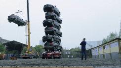 比坦克还结实!沃尔沃XC60七辆车,摞在一起!