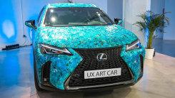 雷克萨斯UX新车型!周身被纸片覆盖采用特殊涂装