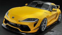 丰田Supra全新改装版 贯穿式进气格栅,加装尾翼